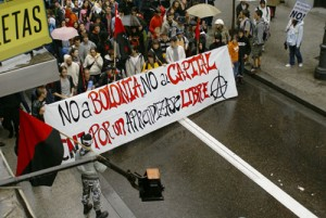 Manifestació CNT Ensenyament